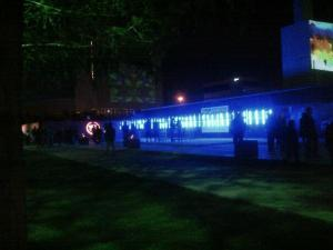 View of blue to white light pathway