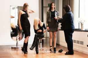 Dontella and models for Versace for H&M