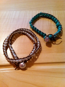 Example of beaded wrap bracelets