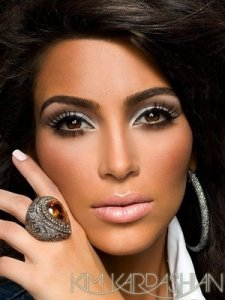 Kim Kardashian with the smokey eye look
