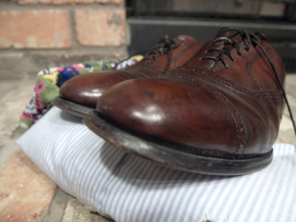 Cap Toe Oxford shoe side view