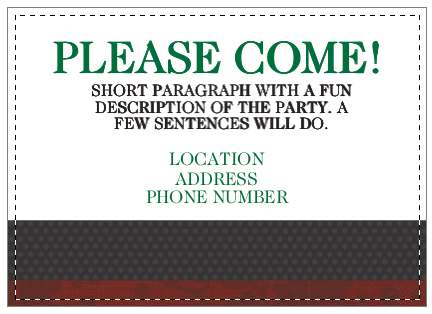 christmas party invite, inside